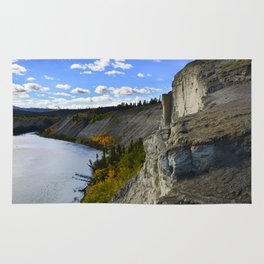 Cliffs on the Yukon River Rug