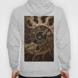 Earth treasures - Fossil in brown tones Hoodie