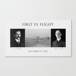 First In Flight - The Wright Brothers Canvas Print