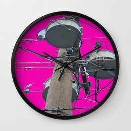 Electric Pink Bubble Gum Bitches! Wall Clock