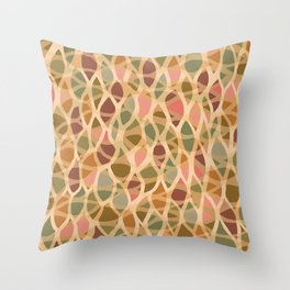 Leaf by leaf bright colors Throw Pillow