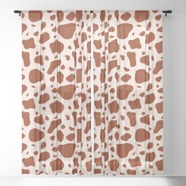 How Now Brown Cow Sheer Curtain