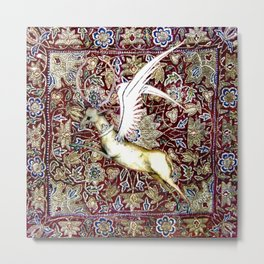 Winged Stag - Garden of Beasts Collection Metal Print