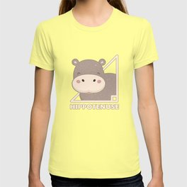 Funny Hippo Hippotenuse Vintage Animal Lovers Gift T-shirt