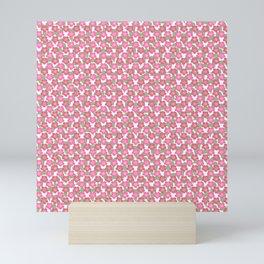 Cherry blossom Sakura Pink flower pattern Mini Art Print