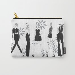 Black & White Fashion Illustration Carry-All Pouch