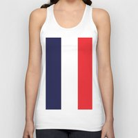 france Tank Tops featuring France by shannon's art space