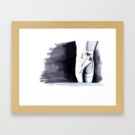 Ballet Shoes Framed Art Print