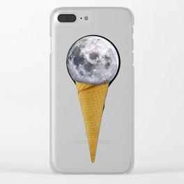 MOON ICE CREAM Clear iPhone Case