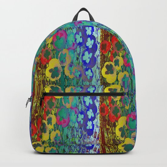 Abstract Collage of Pansies Backpack