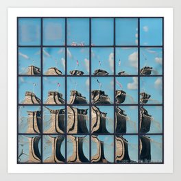 Ney York City - Brooklyn Bridge Reflection Art Print