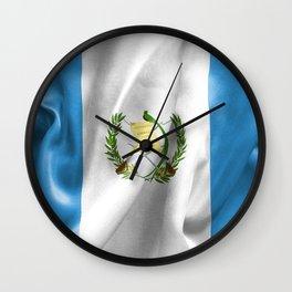 Guatemala Flag Wall Clock