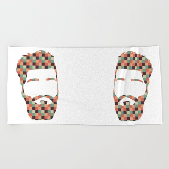 Hipster beard Beach Towel