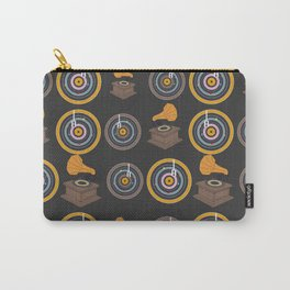 Gramophone and vinyls Carry-All Pouch