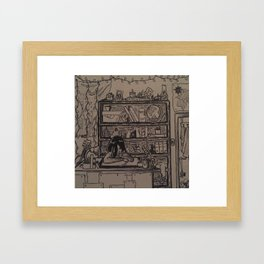 Busy Bedroom Framed Art Print