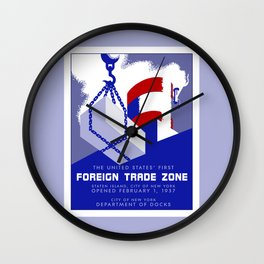 New York Foreign Trade Zone port authority Wall Clock