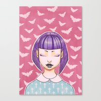 pastel goth Canvas Prints featuring Pastel Goth by IMEON2
