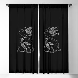 Dark Birds Blackout Curtain