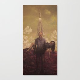 only the lonely Canvas Print