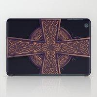 celtic iPad Cases featuring Celtic Cross by pakowacz