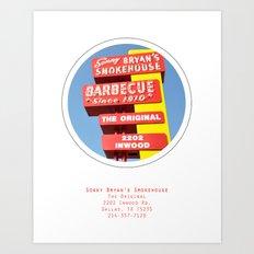 Sonny Bryan's Smokehouse Poster Art Print
