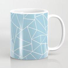 Abstraction Outline Sky Blue Mug