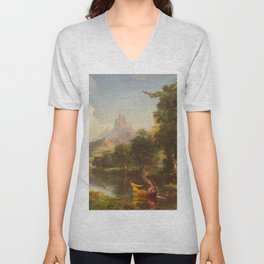 The Voyage of Life Youth Painting by Thomas Cole Unisex V-Neck