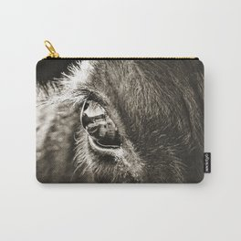 Stare Down With A Black Angus Carry-All Pouch