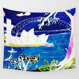 Sydney Opera House    AUSTRALIA                 by Kay Lipton Wall Tapestry