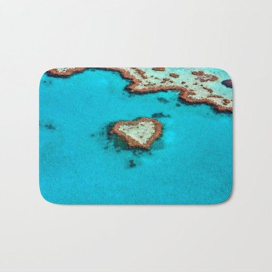 Heart Coral Reef - Queensland, Australia Bath Mat