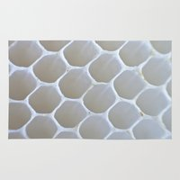 honeycomb Area & Throw Rugs featuring Honeycomb by Ian Bevington