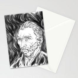 Van Gogh in black Stationery Cards