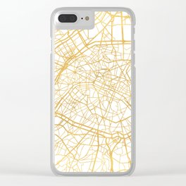 PARIS FRANCE CITY STREET MAP ART Clear iPhone Case