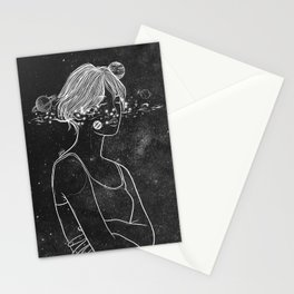 Dreams over night. Stationery Cards