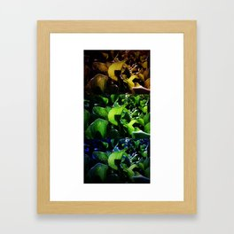 FRICTION BETWEEN THE CONTRAST Framed Art Print