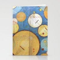 kandinsky Stationery Cards featuring doodling banjos by Beth Jorgensen