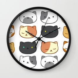 Neko Atsume Cats Wall Clock