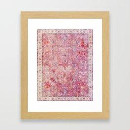 N45 - Pink Vintage Traditional Moroccan Boho & Farmhouse Style Artwork. Framed Art Print