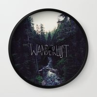 marina and the diamonds Wall Clocks featuring Wanderlust: Rainier Creek by Leah Flores