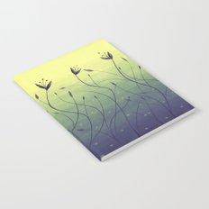 Purple Algae Plants In Green Water Notebook
