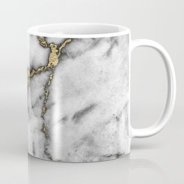 Faux marble Stone Gray Tones Gold Accent Coffee Mug