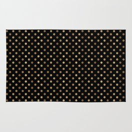 Gold & Black Polka Dots Rug