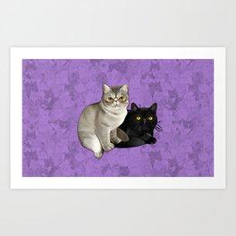 Trixie and Monty Art Print