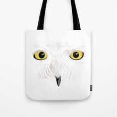 Peer into the Light – Snowy Owl Tote Bag