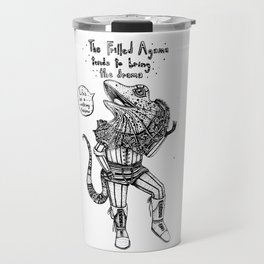 F is for Frilled Agama Travel Mug