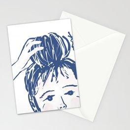 Messy bun day Stationery Cards