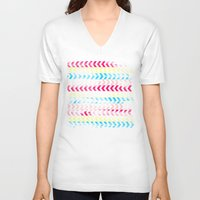 arrow V-neck T-shirts featuring Arrow by Louise Machado