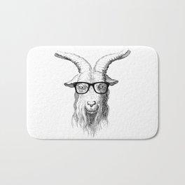 Hipster Goat Bath Mat