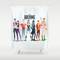 aquaman Shower Curtains featuring the rocking league by Andres Moncayo