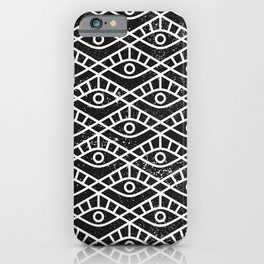 You are watched (Geomteric Eye Pattern) iPhone Case